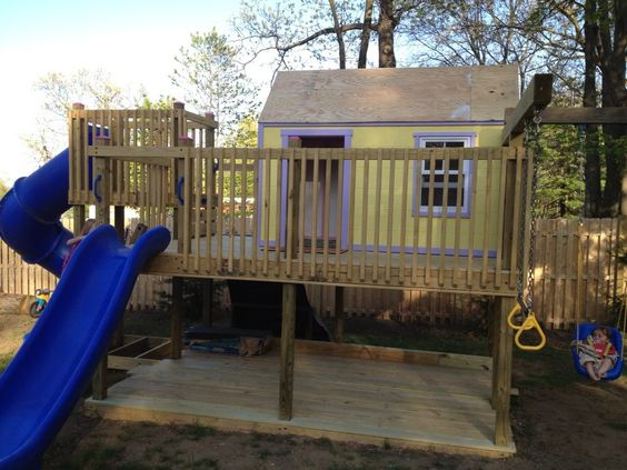 ana-white outdoor playhouse   built this play fort and ...