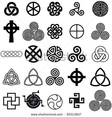 Set of Celtic symbols icons vector. Tattoo design set. by Alvaro Cabrera Jimenez, via Shutterstock
