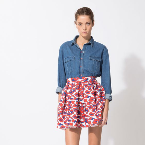 JULIE - Jupes http://fr.maje.com/fr/jupes-et-shorts/jupes/julie/E15JULIE.html?dwvar_E15JULIE_color=0071#start=8