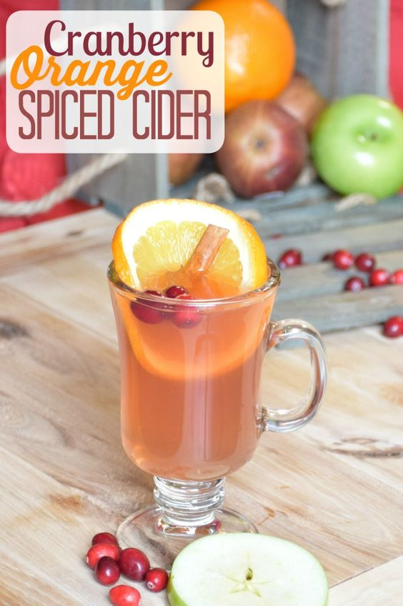 Cranberry Orange Spiced Cider