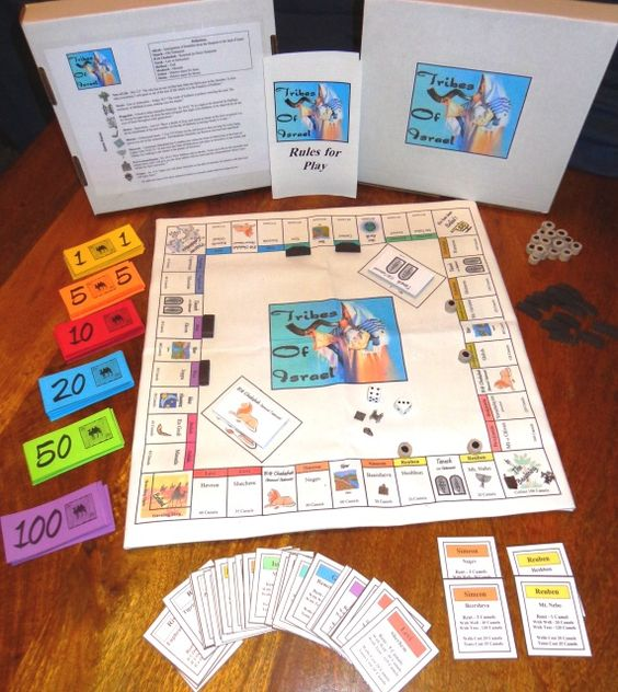 Board Games In Hebrew : Tribes of israel game like monopoly children s bible