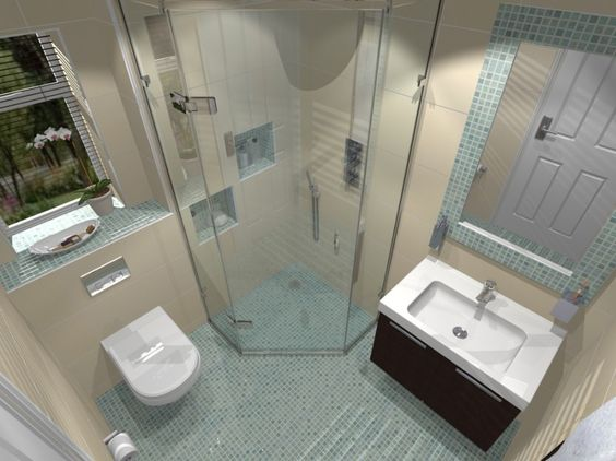 Wondrous Small Bathroom Ensuite Designs Houzz Club Small Largest Home Design Picture Inspirations Pitcheantrous
