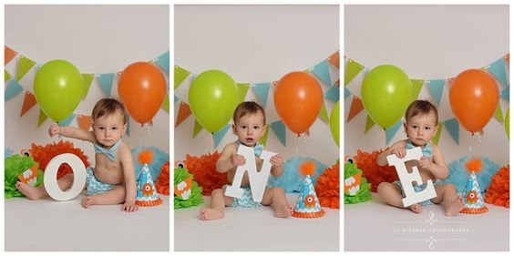 Samuel's Monster Themed First Birthday {A Cake Free Cake Smash Session By 11 Sixteen Photography}   11 Sixteen Photography