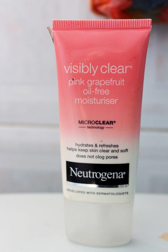 Skincare routine for normal to oily skin :: 1) Neutrogena Pink Grapefruit facial wash,  2) Neutorgena oil-free toner & 3) Neutrogena Visibly Clear Pink Grapefruit oil-free moisturizer.