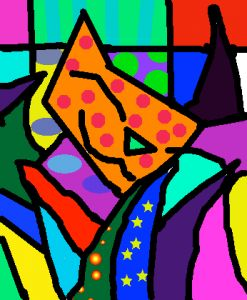 Working on Britto's works with Gimp2