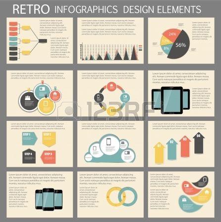 Retro #vintage #Infographic #template business illustration #Stock ...