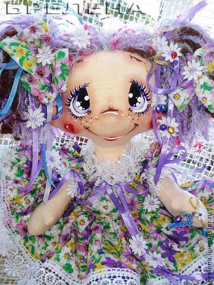 Кукла Феечка Фиалка - сиреневый,интерьерная кукла,текстильная кукла,забавная игрушка