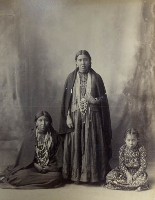 Susan Frost, Fannie Frost and Bessie Wolf - Omaha Tribe - Photo by Frank A…