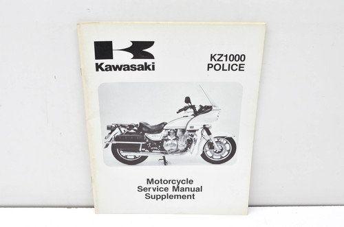 Kawasaki Kz1000 Police Service Manual Supplement 99963 0060 01 Vintage Motorcycles Kawasaki Vintage