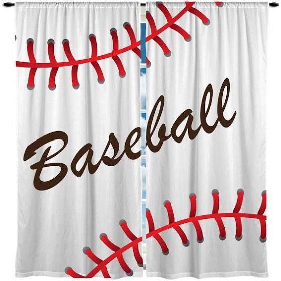 Red Sox Curtains Baseball Curtains Window Curtains Baseball