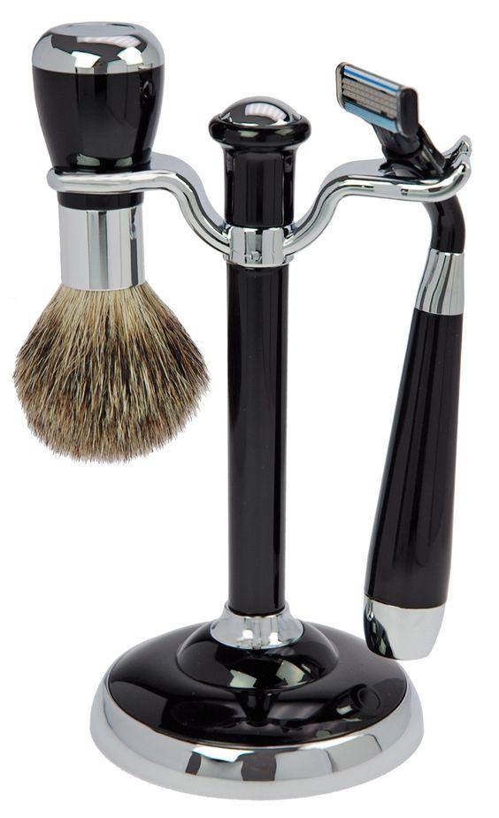 Rasier Set in schwarz/Silber mit Mach 3 - günstig bei Friseurzubehör24.de // Sie interessieren sich für dieses Produkt