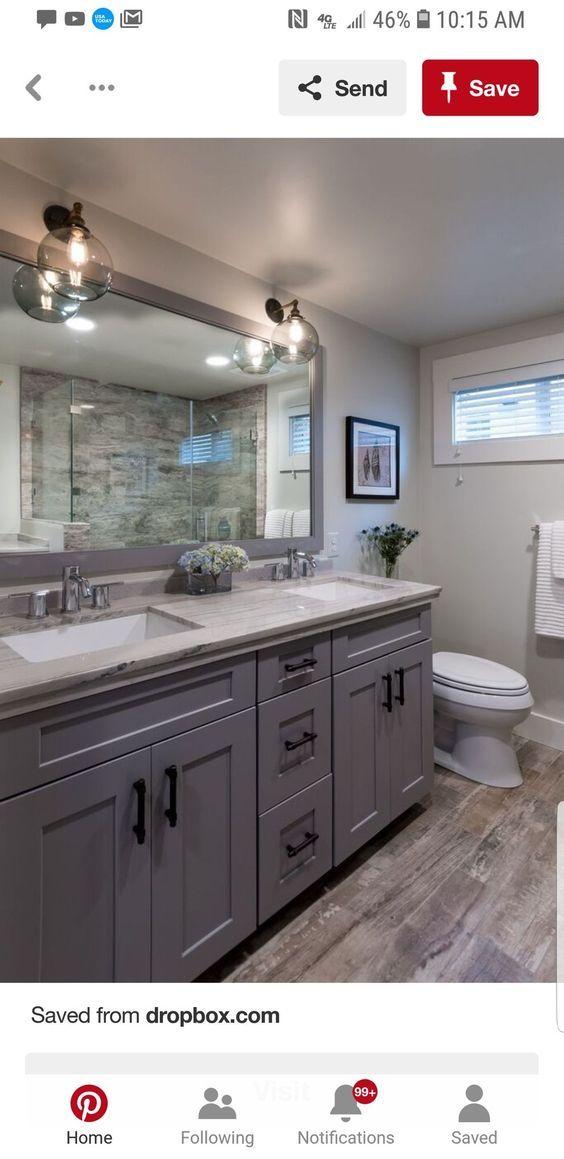 48 Fabulous Rustic Bathroom Shelves Storage Ideas In 2020 Grey Bathroom Vanity Grey Bathroom Cabinets Light Grey Walls