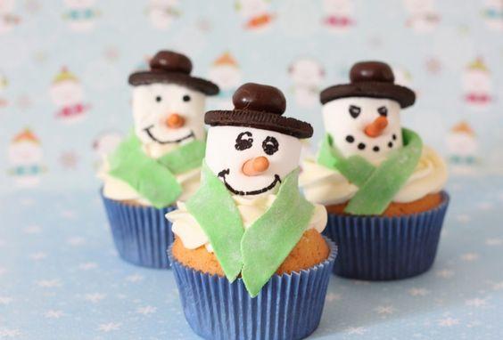 winter cupcakes: