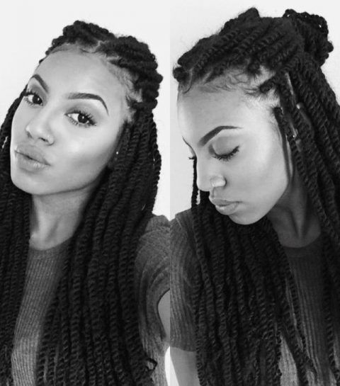 25 Coiffures A Realiser Quand On Porte Des Tresses Coiffure Braidbox Hairstyle Coiffure Vanille