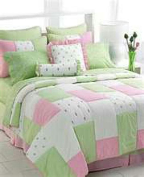Pink And Green Comforter Pink And Green Pinterest