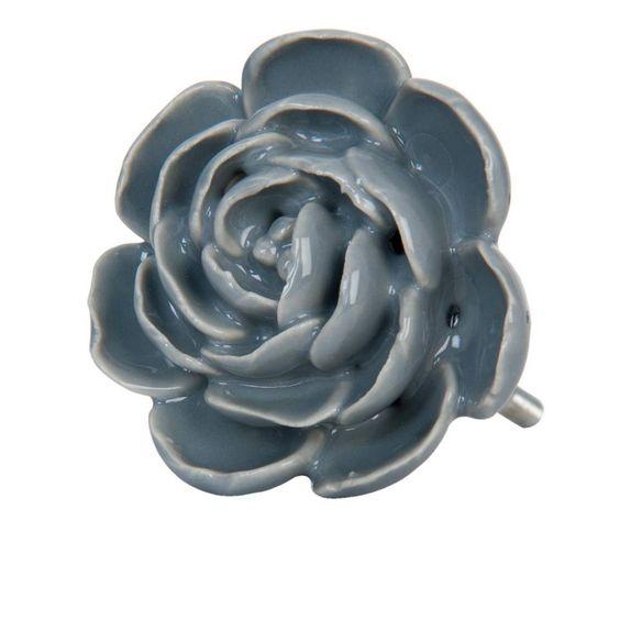 Prachtige grote bloemen deurknop, een echte eyecatcher voor een mooie kast of…