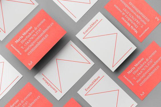 Events & MoreIdentidad para la diseñadora de eventos Maria Moreso.El nombre y la gráfica gira entorno al concepto más (more),a su própio apellido y al signo sumatorio sigma. Foto: Koldo CastilloCliente: Events&More+info: andresrequena.es