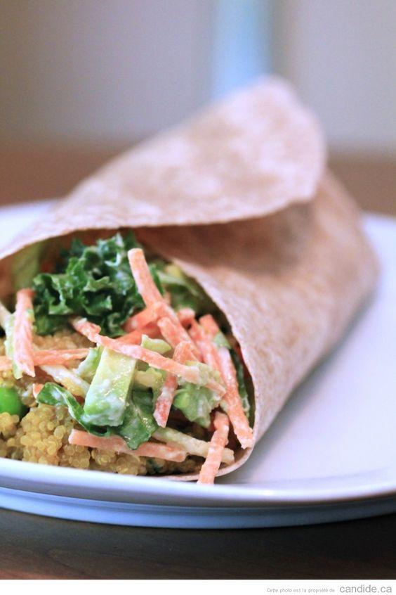 Envie d'un bon repas froid, végé et incroyablement délicieux? Essayez cette délicieuse recette de wrap au quinoa et au curry dès aujourd'hui!