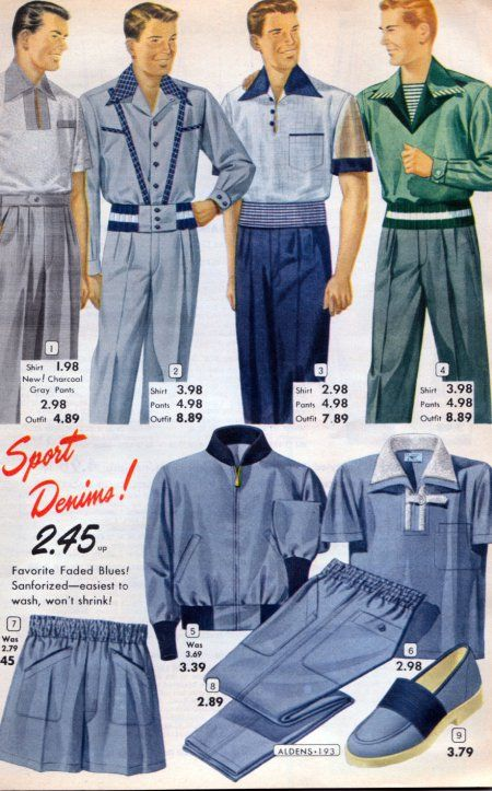 1950s Men's Shirt Styles | Style, Sports and Inspiration