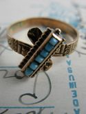 rose gold and turquoise...NM chic :)