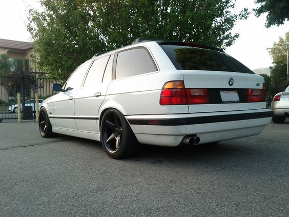 """BMW 5 series wagon Staggered 18"""" AC Schnitzer Type 2s 