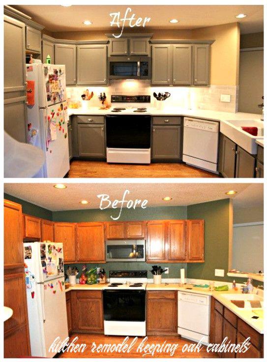 Kitchen Remodel Keeping Oak Cabinets In 2020 Diy Kitchen Renovation Kitchen Remodel Small Small Kitchen Makeovers