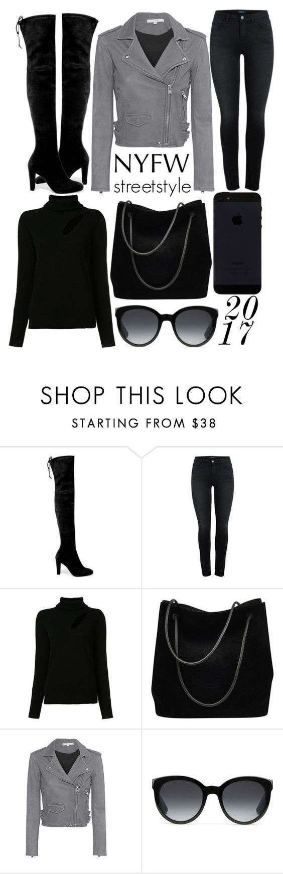 """""""nyfw: street style"""" by j-n-a ❤ liked on Polyvore featuring Stuart Weitzman, A.L.C., Gucci, IRO, StreetStyle, NYFW, Newyork and fashionWeek"""