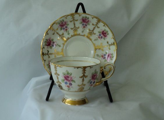 Vintage Tuscan Fine English Bone China by OurBarefootCottage.etsy.com