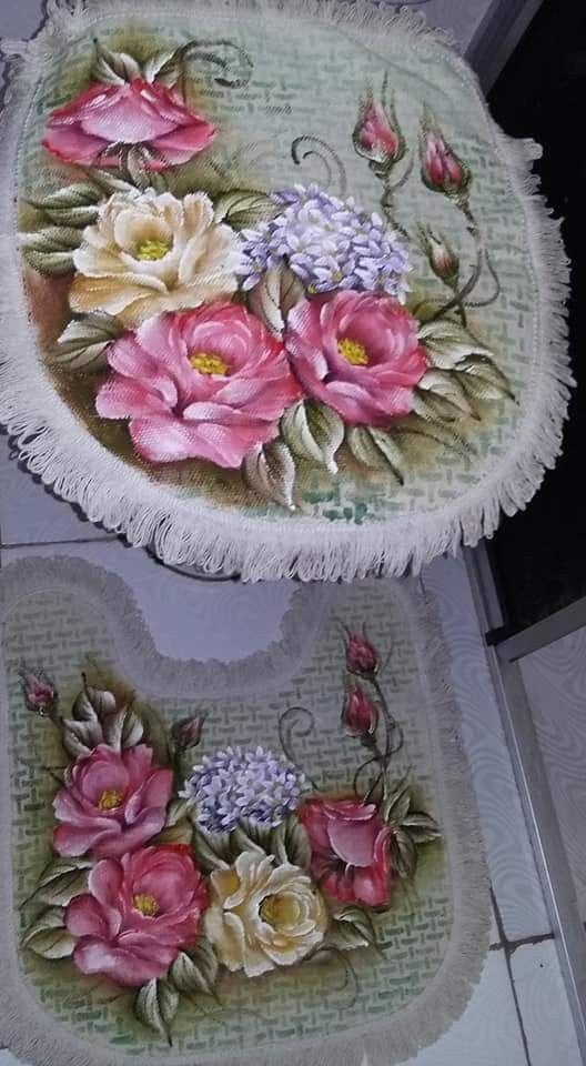 Decoracao Banheiro Pintura Em Tapete Banheiros Pintados