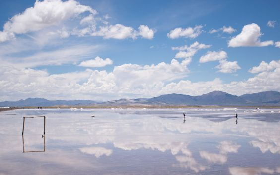 Pocitos is the salt flat of Argentina