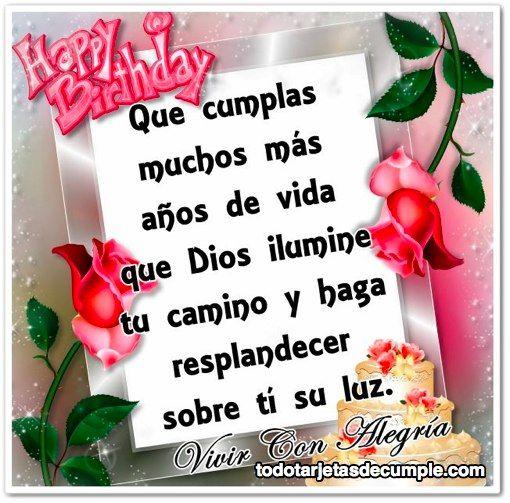 tarjetas de cumpleaños cristianas Buscar con Google FELIZ ANIVERSARIO Pinterest Happy