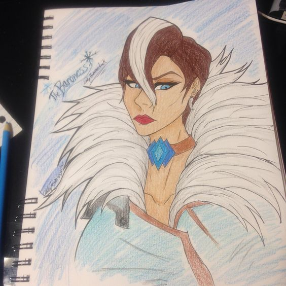 Last Hammerlock, The Baroness, drawn by Odalis Mancha. (Me)/// Borderlands the Pre-Sequel