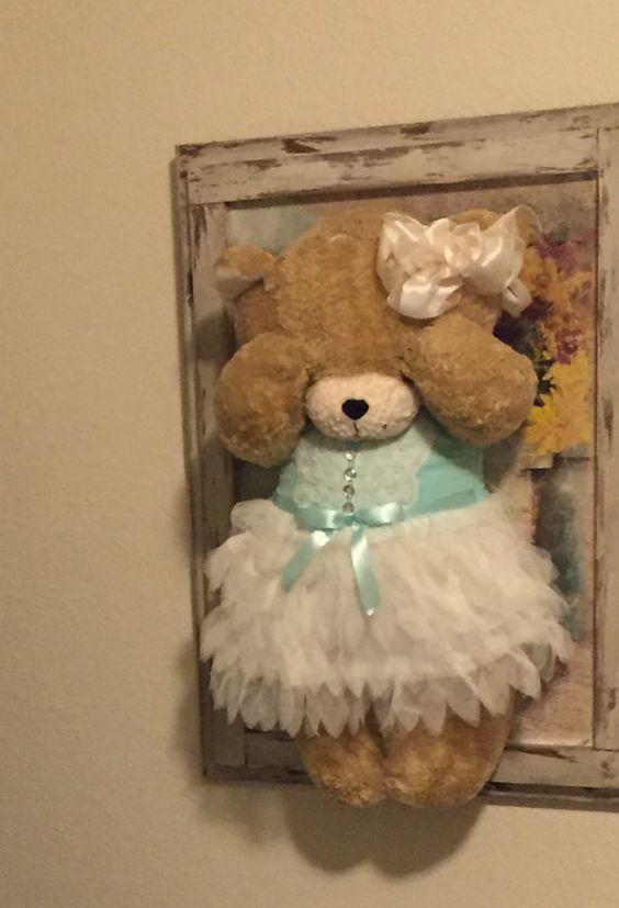 Wall Hanging Peek-A-Boo Bear
