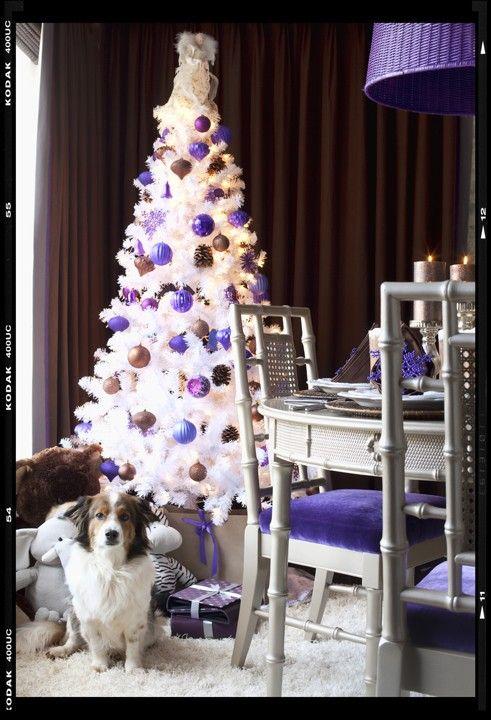 A purple Christmas smile ) Pinterest Christmas trees, White