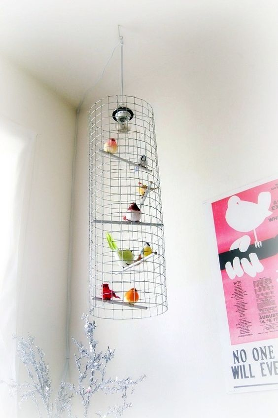 Tall & skinny birdcage chandelier by meggancolleen on Etsy, $160.00 >> WOW, this is so awesome!