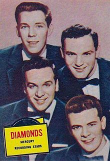 Song hits 1957   * Little Darlin' – Diamonds The Diamonds are a Canadian vocal quartet that rose to prominence in the 1950s and early 1960s with sixteen Billboard hit records. The original members were Dave Somerville (lead), Ted Kowalski (tenor), Phil Levitt (baritone), and Bill Reed (bass). They were most noted for interpreting and introducing rhythm and blues vocal group music to the wider pop music audience.