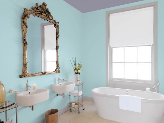 blue ceilings benjamin moore aura bath spa style at home blog blog spa bathroom