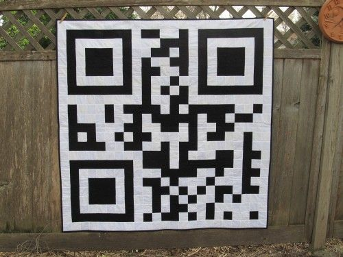 P.D.A. QR Code Lap Picnic Wall Quilt | zippityduda - Quilts on ArtFire