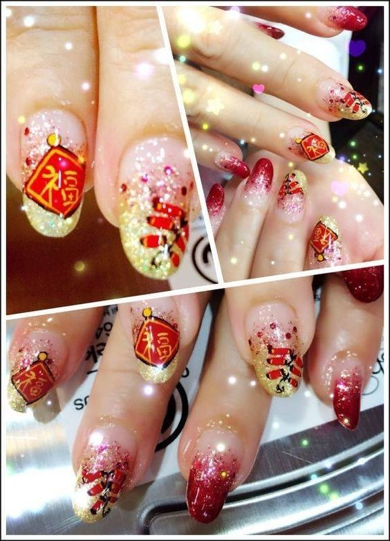 Chinese New Year Nail Art. Gorgeous!: