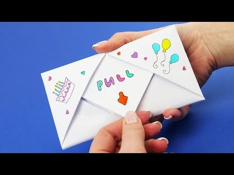 Diy Pull Tab Origami With Pinkie Pie From My Little Pony Letter Folding Origami Youtube Origami Birthday Card Origami Envelope Letter Folding