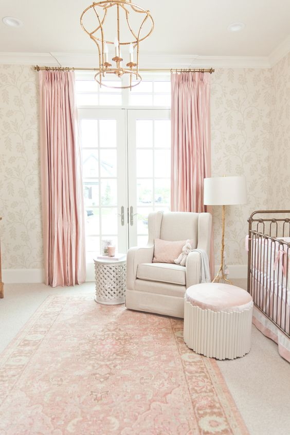 Inside A Perfectly Elegant Pink And Gold Nursery Gold