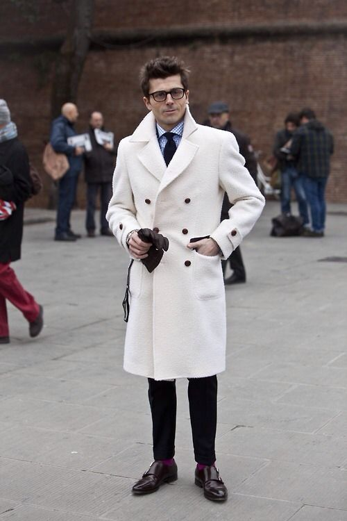 Collection White Peacoat For Men Pictures - Reikian