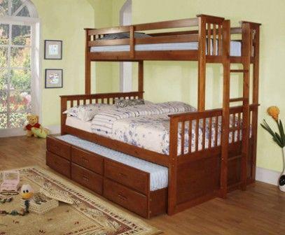 Esta litera individual en la parte superior y matrimonial for Cama matrimonial con cama individual abajo