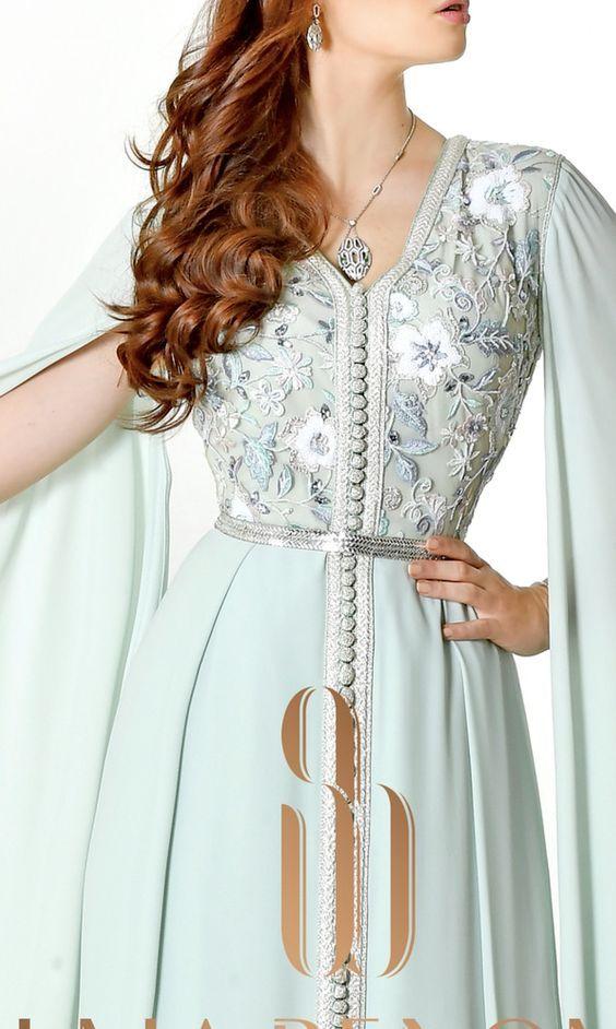 فساتين سهرة 2021 ازياء ملابس سهرة صيفية بنات مناسبات Morrocan Dress Moroccan Clothing Moroccan Dress