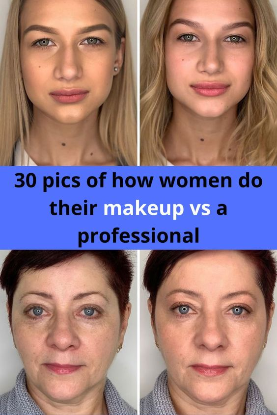 30 Pics Of How Women Do Their Makeup Vs A Professional In 2020 Putting On Makeup Makeup Workout Programs