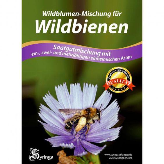 Wildblumen-Mischung f. Wildbienen mehrjährig | #Bienen | #Saatgut