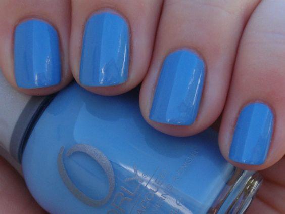 Orly ~ Snowcone (Spring 2010 Sweet Collection) by Solveig @ nailinit. #bluecreme #bluenailpolish #bluenails