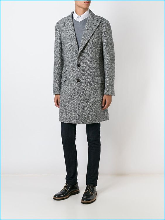 Brunello Cucinelli Herringbone Coat: