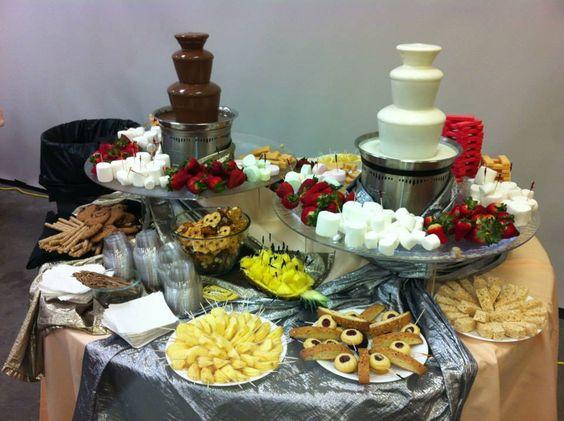 Beautiful display of white chocolate and milk chocolate ...