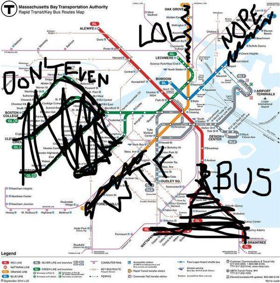 Boston Rapid Transit Map